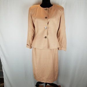 Christian Dior The Suit jacket/skirt peach size 12